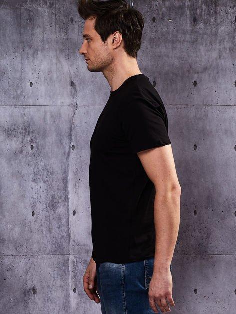 Czarny t-shirt męski basic                              zdj.                              5