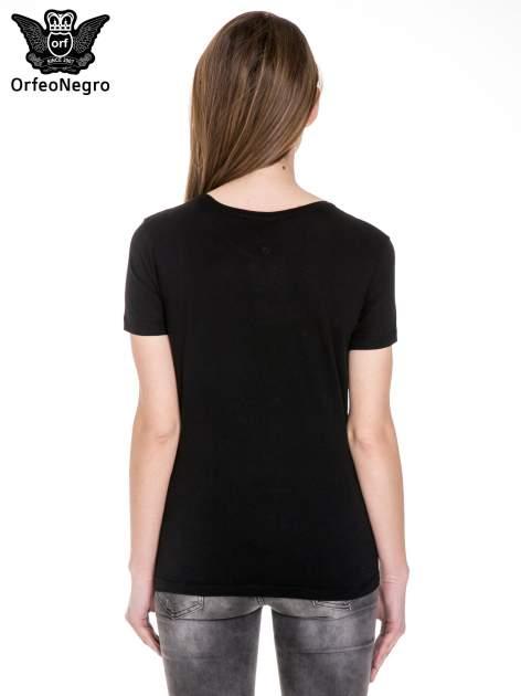 Czarny t-shirt z metalicznym napisem JERK                                  zdj.                                  4