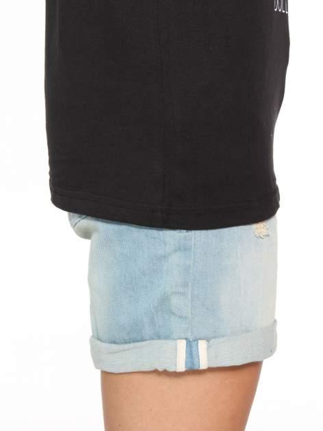 Czarny t-shirt z nadrukiem DOLLYWOOD                                  zdj.                                  8