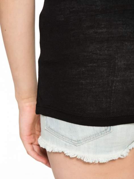 Czarny t-shirt z nadrukiem kota i myszy                                  zdj.                                  10