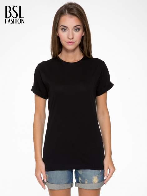 Czarny t-shirt z nadrukiem numerycznym AZZEDINE 40 z tyłu