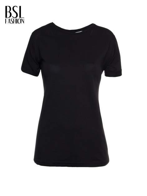 Czarny t-shirt z nadrukiem numerycznym KAWAKUBO 42 z tyłu                                   zdj.                                  2