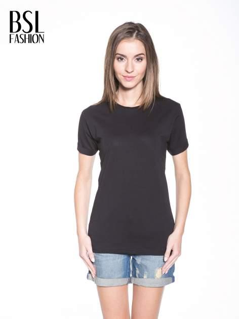 Czarny t-shirt z nadrukiem numerycznym KAWAKUBO 42 z tyłu                                   zdj.                                  1