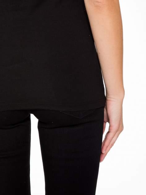Czarny t-shirt z nadrukiem tygrysa z koroną                                  zdj.                                  9