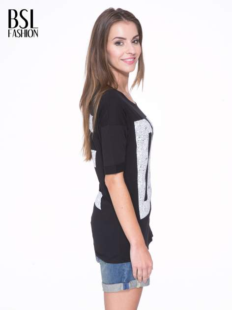Czarny t-shirt z nadukiem DUDE z przodu i na plecach                                  zdj.                                  4