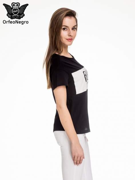 Czarny t-shirt z napisem BKLN WILLAMSBURG                                  zdj.                                  3