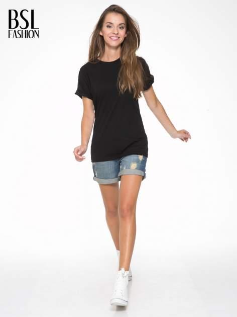 Czarny t-shirt z napisem MARGIELA 47 na plecach                                  zdj.                                  6