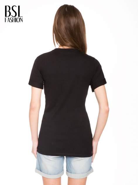 Czarny t-shirt ze złotym nadrukiem orła i napisem BOY LONDON                                  zdj.                                  4