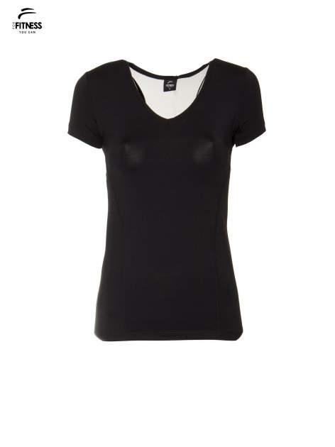Czarny termoaktywny t-shirt sportowy z siateczką z tyłu ♦ Performance RUN                                  zdj.                                  5