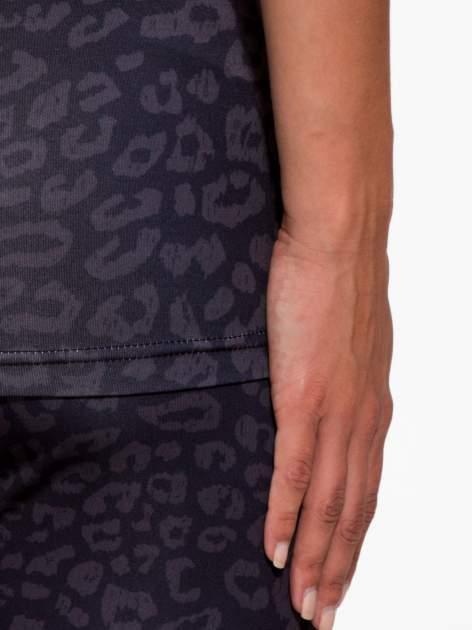 Czarny termoaktywny top sportowy w panterkę z fluoróżową wstawką ♦ Performance RUN                                  zdj.                                  9