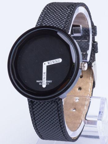 Czarny zegarek damski na pasku                                  zdj.                                  1