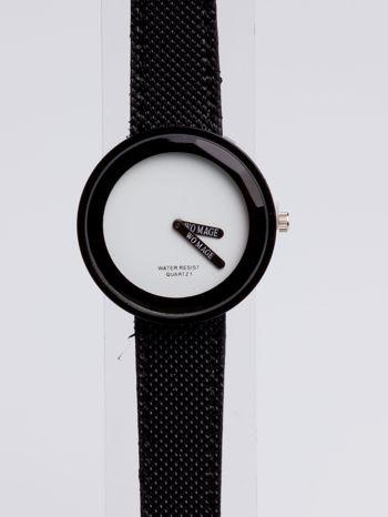 Czarny zegarek damski na pasku                                  zdj.                                  2