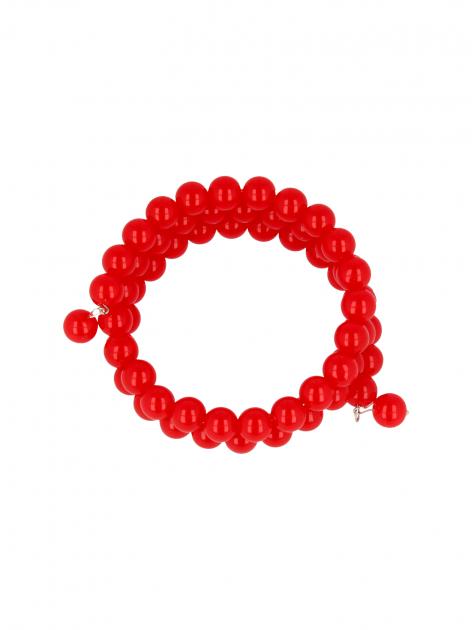 Czerwona Bransoletka koralikowa                                  zdj.                                  2