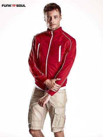 Czerwona bluza męska z kieszeniami na suwak Funk n Soul                                  zdj.                                  2