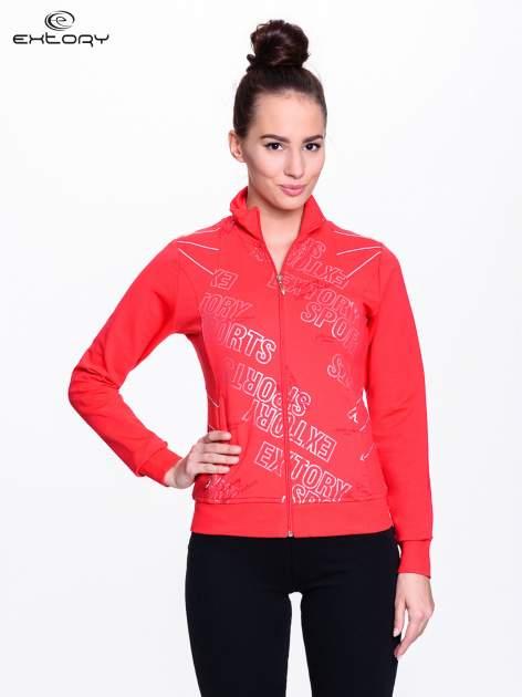 Czerwona bluza sportowa z logo EXTORY                                  zdj.                                  1
