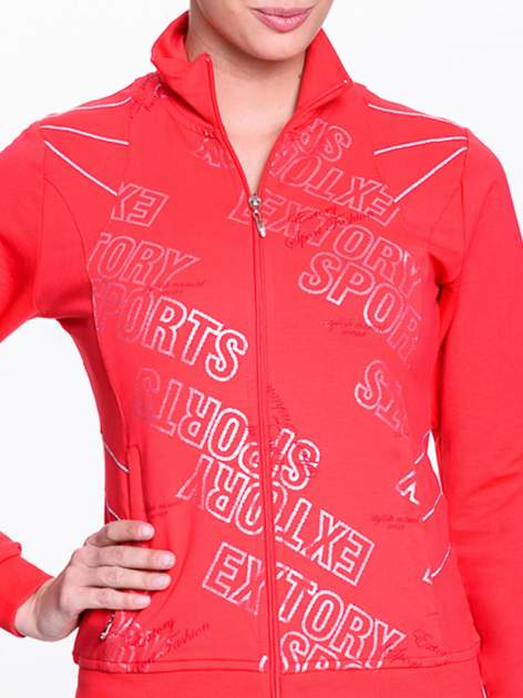 Czerwona bluza sportowa z logo EXTORY                                  zdj.                                  4