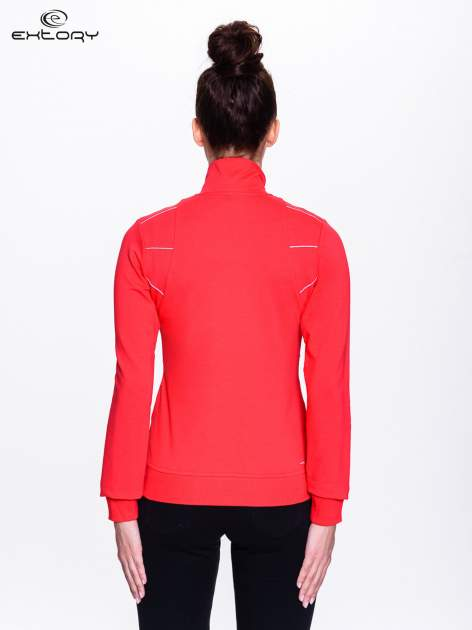 Czerwona bluza sportowa z logo EXTORY                                  zdj.                                  3