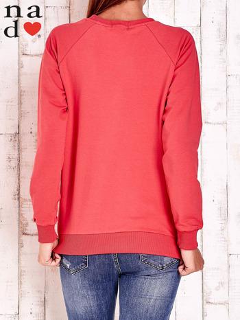 Czerwona bluza z napisem AWESOME                                  zdj.                                  4