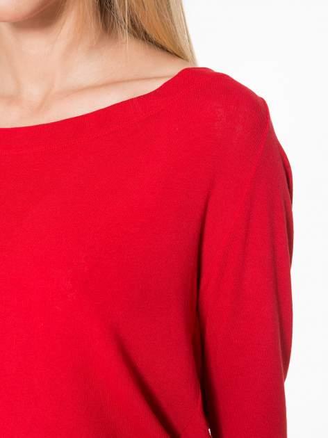 Czerwona bluzka z dekoltem na plecach                                  zdj.                                  6