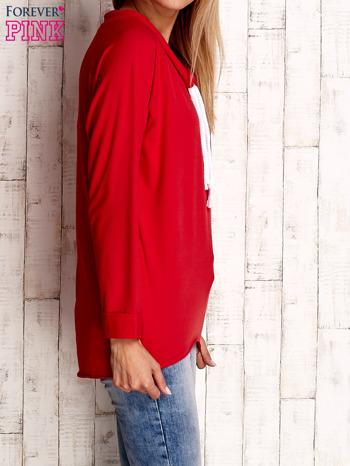 Czerwona bluzka z troczkami                                  zdj.                                  3