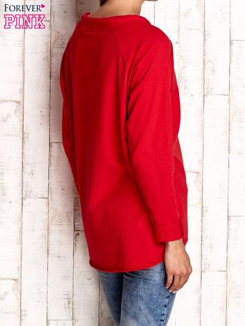Czerwona bluzka z troczkami                                  zdj.                                  4