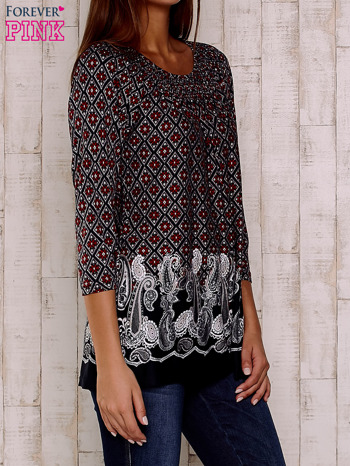Czerwona bluzka ze wzorem paisley                                  zdj.                                  3