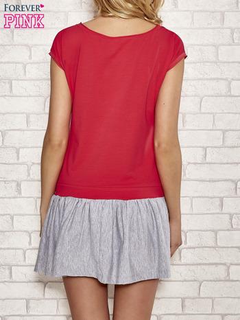 Czerwona dresowa sukienka tenisowa z kieszonką                                  zdj.                                  4
