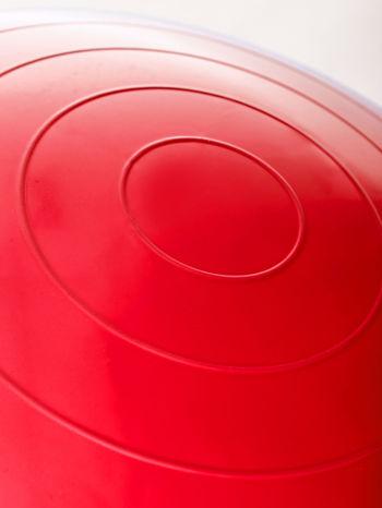 Czerwona duża piłka fitness                                   zdj.                                  5