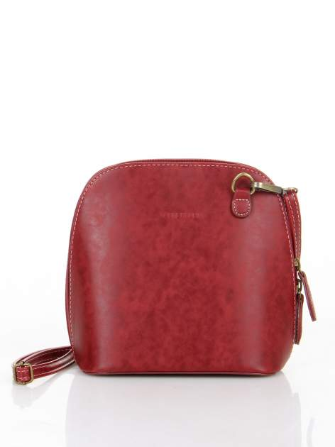 Czerwona elegancka listonoszka z odpinanaym paskiem                                  zdj.                                  1