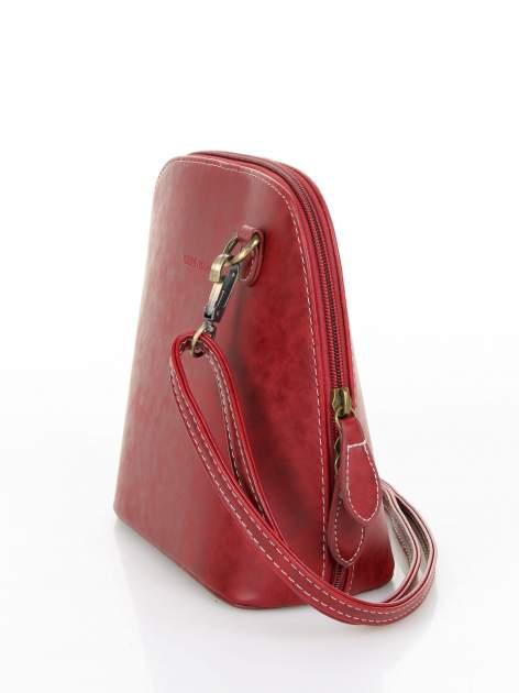 Czerwona elegancka listonoszka z odpinanaym paskiem                                  zdj.                                  3