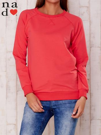 Czerwona gładka bluza