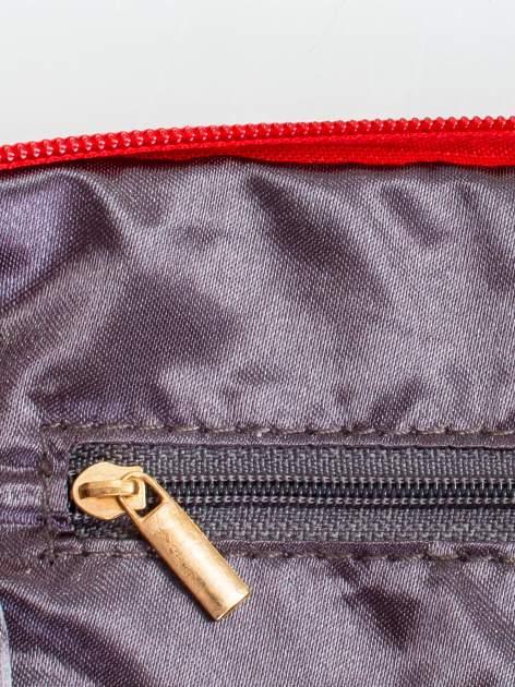 Czerwona kopertówka z dżetami motyw czaszki                                  zdj.                                  6