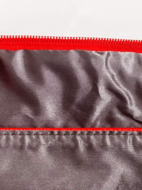 Czerwona kopertówka z dżetami motyw czaszki                                  zdj.                                  7