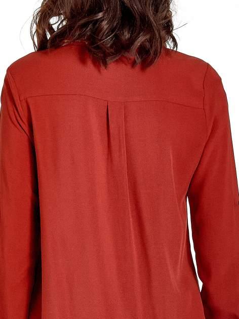 Czerwona koszula z haftowanym kołnierzykiem                                  zdj.                                  7