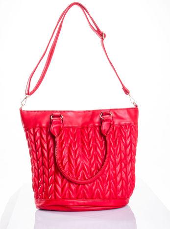 Czerwona pikowana torba na ramię                                  zdj.                                  6