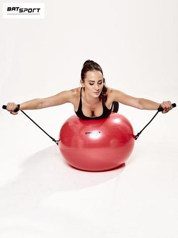 Czerwona średnia piłka fitness z ekspanderami                                  zdj.                                  9