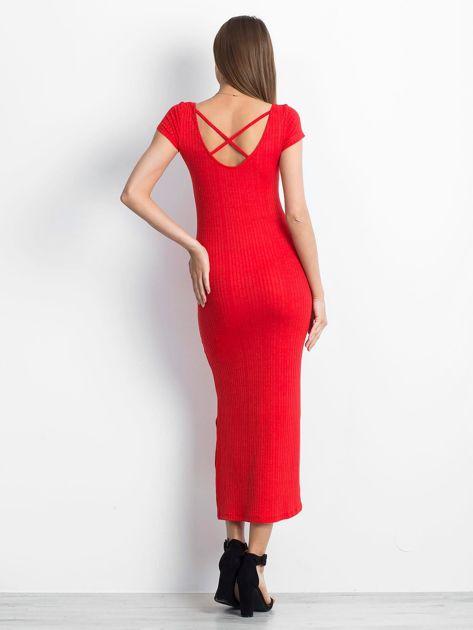 Czerwona sukienka Touching                              zdj.                              2