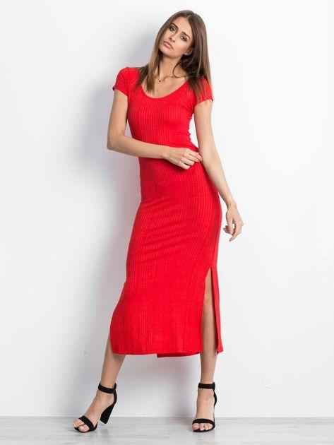 Czerwona sukienka Touching                              zdj.                              4