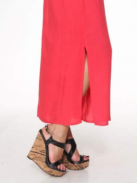 Czerwona sukienka w stylu greckim                                  zdj.                                  8