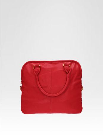 Czerwona torba miejska na ramię