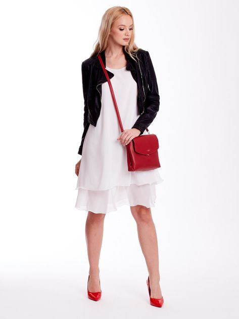 Czerwona torebka damska z klapką                              zdj.                              5