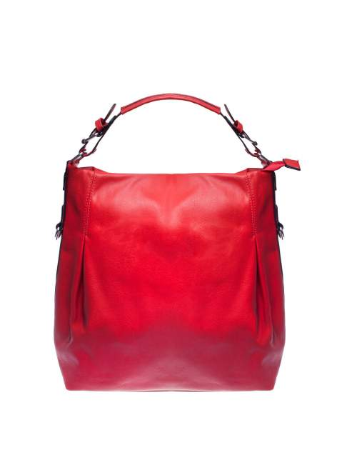 Czerwona torebka hobo na ramię
