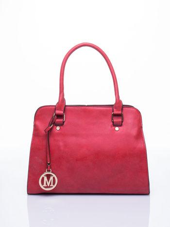 Czerwona torebka miejska z zawieszką