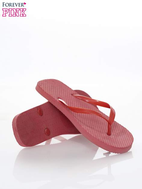 Czerwone gumowe japonki damskie                                  zdj.                                  4