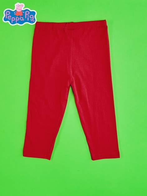 Czerwone legginsy dla dziewczynki ŚWINKA PEPPA                                  zdj.                                  2