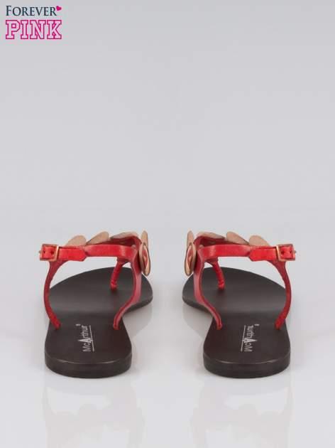 Czerwone skórzane sandały japonki w stylu etno Sharon                                  zdj.                                  3