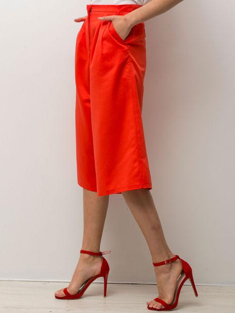 Czerwone spódnicospodnie typu culottes                                  zdj.                                  1