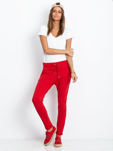 Czerwone spodnie Cadence                              zdj.                              4