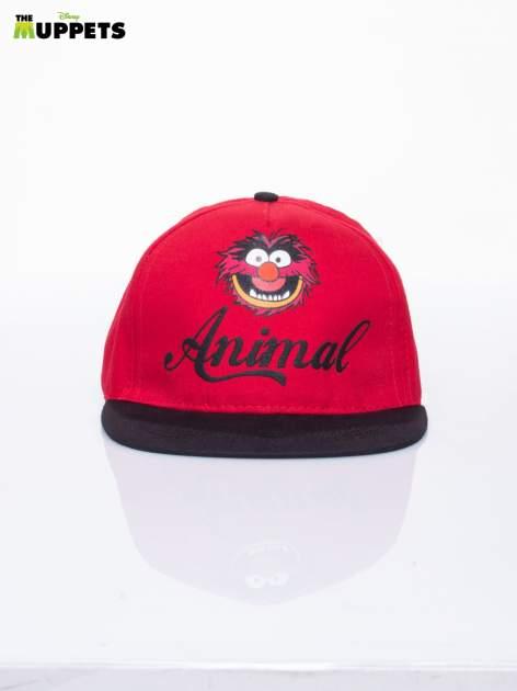 Czerwony chłopięca czapka z daszkiem MUPPETY                                  zdj.                                  1