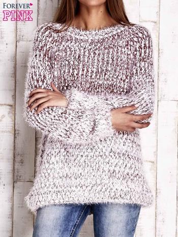 Czerwony melanżowy sweter long hair                                  zdj.                                  1